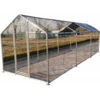 Fiveberry Magbean Large Metal 20x7 ft Chicken Coop Outdoor Cage Backyard Hen House Cage Run New