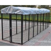 Fiveberry Magbean Modular Heavy Duty Dog Kennel Welded Steel Panel Pet Cover 4' W x 16' L x 5.5' H New