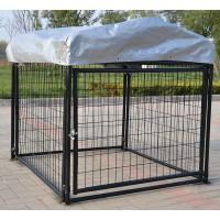 Fiveberry Magbean Modular Heavy Duty Dog Kennel Welded Steel Panel Pet Cover 4' W x 4' L x 4' H New