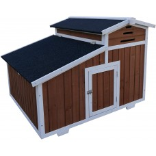 Fiveberry Magbean Solid Wood Chicken Coop Backyard Hen House 2-4 Chickens with Nesting Box